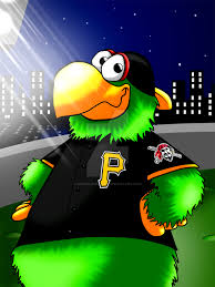 pittsburgh u0027s pirate parrot at pnc park at night by unclelaurence