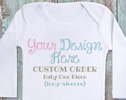 customized baby custom baby romper etsy