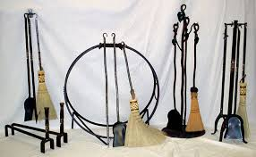 Fireplace Toolset - hand forged wrought iron fireplace u0026 woodstove tool sets and