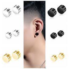 clip on stud earrings titanium magnetic fashion earrings ebay