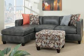 Gray Leather Sofa Durablend Leather Sofa Facil Furniture