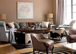 paint color ideas for living room with brown furniture and theme