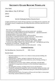 Security Officer Resume Template Security Guard Resume Template 5 Security Guard Cover Letter 5
