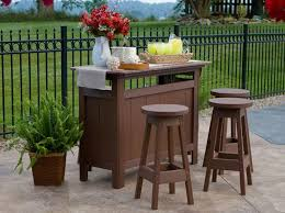 Garden Bar Table And Stools Berlin Gardens Outdoor Poly Patio Bar Set From Dutchcrafters Amish