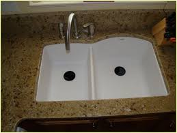 granite countertop shallow sinks in kitchen how to fix a leaky