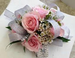 pink corsages for prom prom