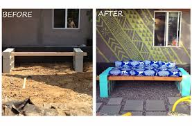 How To Build Patio Bench Seating Lena Sekine Diy Outdoor Seating