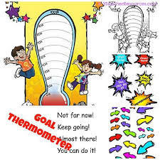 printable goal thermometer