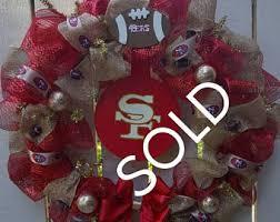 49ers wreath etsy