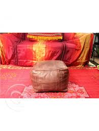 Light Brown Ottoman by Light Brown Square Leather Ottoman Marrakech Market