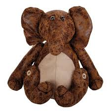 Door Stops Faux Leather Suede Animal Doorstop Heavy Door Stopper Elephant