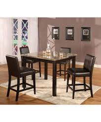 3 Pc Kitchen Table Sets by 3 Pc Faux Marble Top Counter Height Bar Set Table With 2 Stools