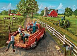 jigsaw puzzles mcgavin s farm 1000 puzzle by cobble hill