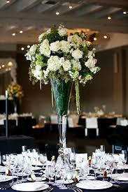 black and white centerpieces wedding reception on chic black and white washington dc hotel