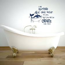 clean wall bathroom wall quotes decals i will sprinkle clean water on you