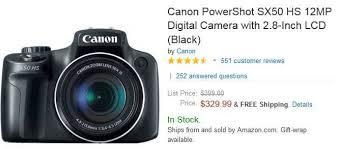 amazon black friday canon canon sx50 hs new camera