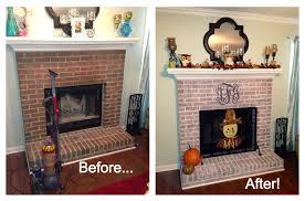how to whitewash a brick fireplace design ideas loversiq