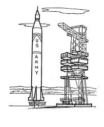 army rocket ship ready launch coloring download