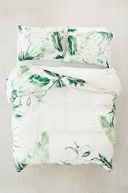 cactus icon white soft green duvet cover