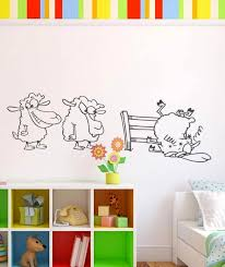 stickers mouton chambre bébé sticker chute de moutons stickers humour ghostick