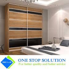 Sliding Door Wardrobe Cabinet China Combine Wood With Black Glass Sliding Door Wardrobe