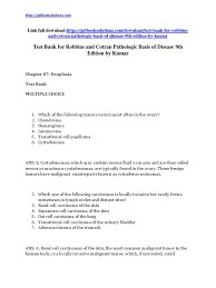 test bank for robbins and cotran pathologic basis of disease 9th