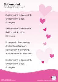 simple man lyrics printable version skidamarink lyrics poster super simple