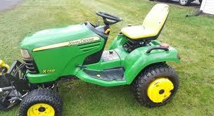 62in john deere x748 diesel garden tractor 4x4 w 60in rotary snow