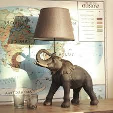 animal themed kids room decor ideas elephant table lamp all