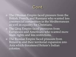 What Problems Faced The Ottoman Empire In The 1800s Ch 25 Land Empires In The Age Of Imperialism