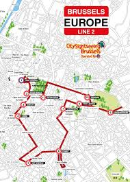 Red Line Map City Sightseeing Brussels Hop On Hop Off Bus Tour