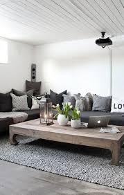 deco avec canapé gris déco salon le st maclou tapis de salon gris avec une table