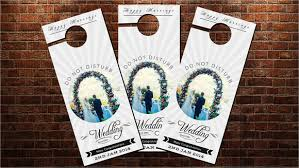 wedding door hanger template sle wedding door hanger template 8 documents in psd