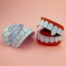 Halloween Decorations Arts And Crafts Simple 3d Halloween Vampire Teeth Activity Paper Craft Download