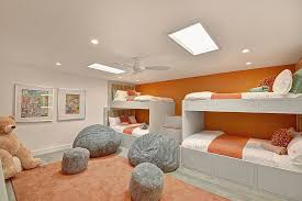 Wall Bunk Beds Wall Of Bunk Beds In Orange For The Room Furniture