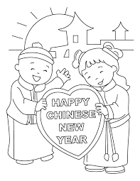 chinese new year coloring pages for preschool printable chinese