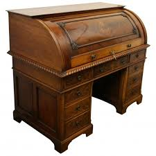 bureau writing desk mahogany cylinder bureau by waring gillows georgian antiques