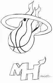 miami heat coloring pages miami heat nba basketball teams logos