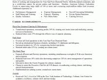 Culinary Resume Template Pizza Resume Free Resume