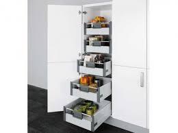 rangement cuisine coulissant placard avec tiroirs cuisine boulanger cuisine