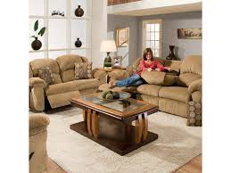franklin living room reclining sofa with table 69144 kamin