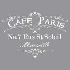 amazon com deco art americana decor stencil cafe paris kitchen