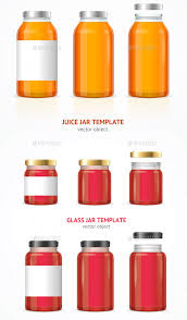 realistic glass jar template set by mousemd graphicriver
