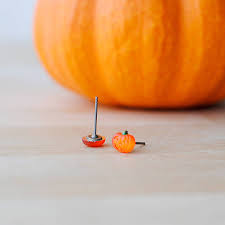 halloween earrings halloween pumpkin earrings by onetenzeroseven notonthehighstreet com