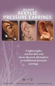 pressure earrings acrylic pressure earrings delasco