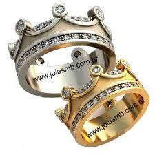rei das aliancas alianças de casamento coroa rei rainha joias mb