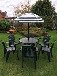 garden table 6 hartman prestige chairs brand parasol in