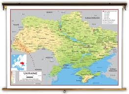Europe Map Physical by Ukraine Physical Educational Wall Map From Academia Maps