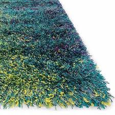 new shag area rug carpet 3 u00279 x 5 u00276 rectangle purple blue green