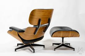 Herman Miller Padded Blue Vintage Chair Image Of Charles And Ray Eames 670 671 Rosewood Crazy Flame Lounge